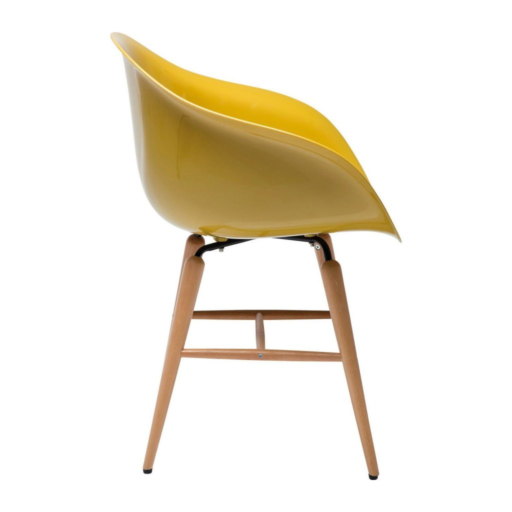 lot de 6 chaises forum wood jaune abitare luxembourg. Black Bedroom Furniture Sets. Home Design Ideas